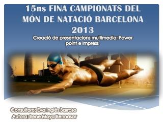 CAMPIONATS DEL MÓN DE NATACIÓ BARCELONA 2013