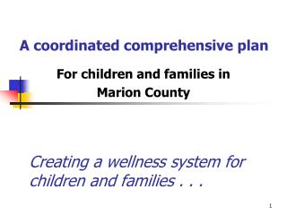 A coordinated comprehensive plan