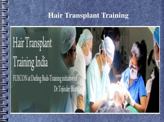 Join an Advanced Hair Transplantation Course in India