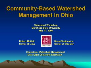 Community-Based Watershed Management in Ohio