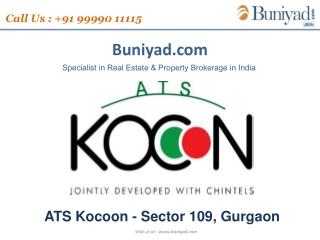 ATS Kocoon Gurgaon Sector 109 offers buniyad.com