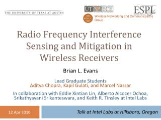 Radio Frequency Interference Sensing and Mitigation in  Wireless Receivers