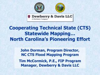 Cooperating Technical State (CTS) Statewide Mapping… North Carolina's Pioneering Effort