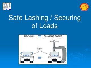 Safe Lashing / Securing of Loads