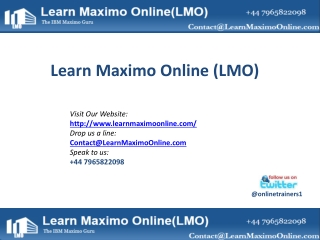 Learn Maximo Online_Introduction