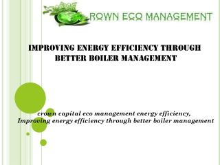 Improving energy efficiency through better boiler management