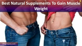 Best Natural Supplements To Gain Muscle Weight