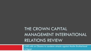 the crown capital management-CAIR calls on Obama to condemn