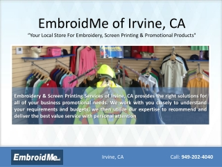 The Embroidery Store Irvine