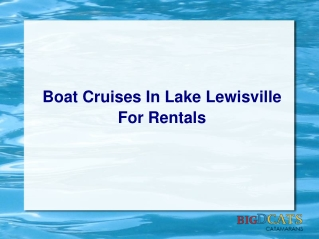 Boat Cruises In Lake Lewisville For Rentals