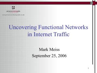 Uncovering Functional Networks in Internet Traffic