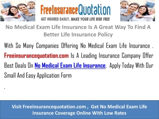 Single Premium Life Insurance With No Medical Exam Life Insu