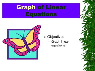 Graph  of Linear Equations