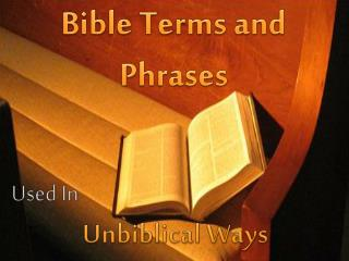 Bible Terms and Phrases