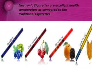 Electronic Cigarettes-Best alternative for healthier life