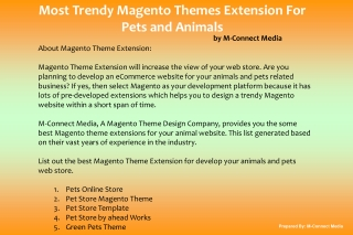 Trendy Magento Extensions for Pets and Animal Website Theme