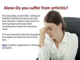 Aleve-natural supplement for arthritis