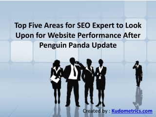 Top Five Areas for SEO Expert to Look Upon for Website