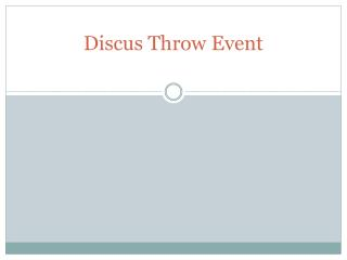 discus throw event