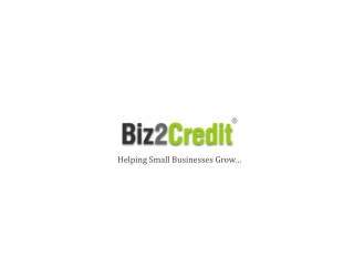 An insight to Biz2credit-commercial loans