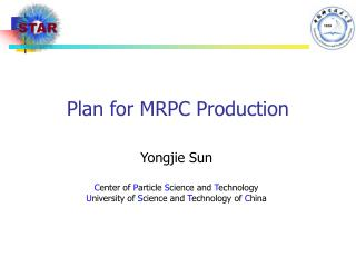 Plan for MRPC Production