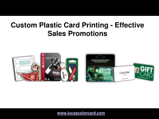 Custom Plastic Card Printing - Effective Sales Promotions