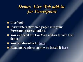 Demo: Live Web add-in for Powerpoint