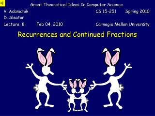 Recurrences  and  Continued Fractions
