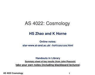 AS 4022: Cosmology