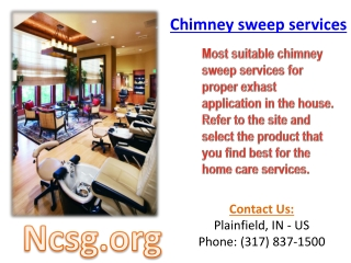 Chimney sweep services
