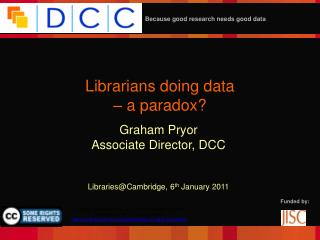 Librarians doing data – a paradox?