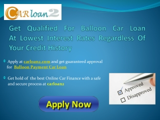 Balloon Payment Auto Loan