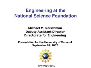 Engineering at the  National Science Foundation