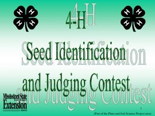 4-H Seed Identification and Judging Contest
