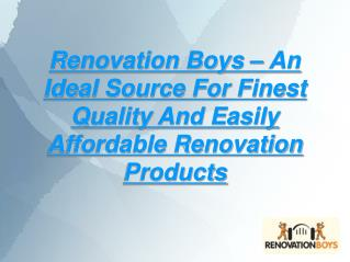 renovation boys: quality renovation products