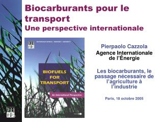 Biocarburants pour le transport Une perspective internationale