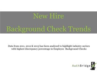 Top Background Check trends | 2011-13