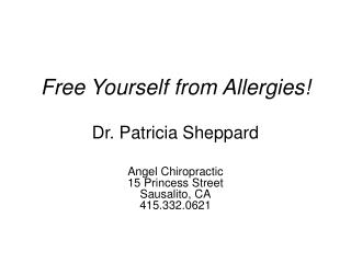 Free Yourself from Allergies!