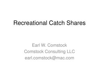 Recreational Catch Shares