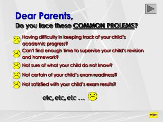 Dear Parents,