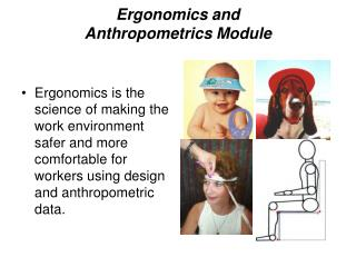 Ergonomics and Anthropometrics Module
