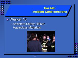 Chapter 16 Assistant Safety Officer - Hazardous Materials