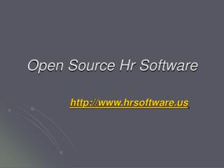 Open Source Hr Software