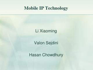 Mobile IP Technology