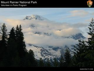 Mount Rainier National Park Volunteer-in-Parks Program