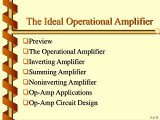 The Ideal Operational Amplifier