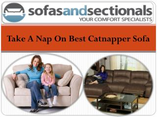 take a nap on best catnapper sofa