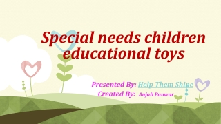 Special needs children educational toys