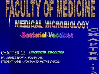 Bacterial Vaccines