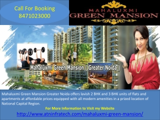 Mahaluxmi Green Mansion Flats Call for Booking 8471023000